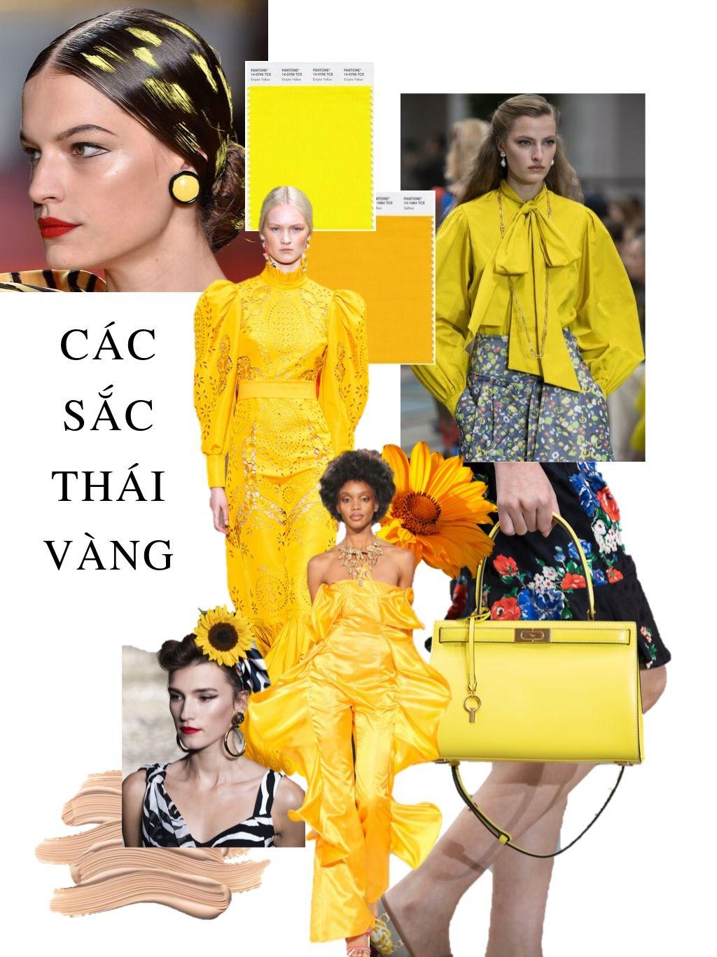 thời trang cung hoàng đạo thiên bình nhiều màu vàng