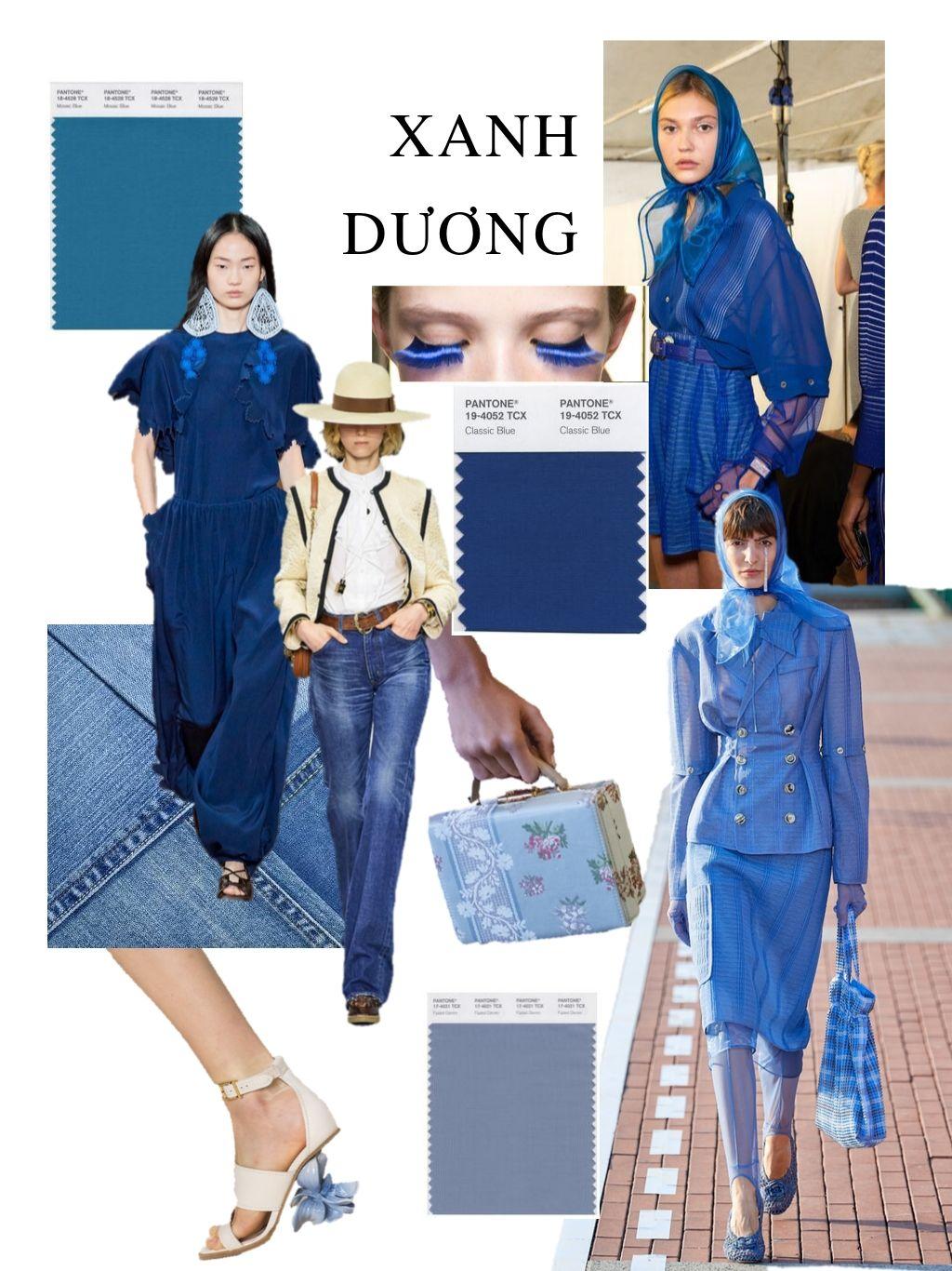 thời trang cung hoàng đạo thiên bình xanh dương