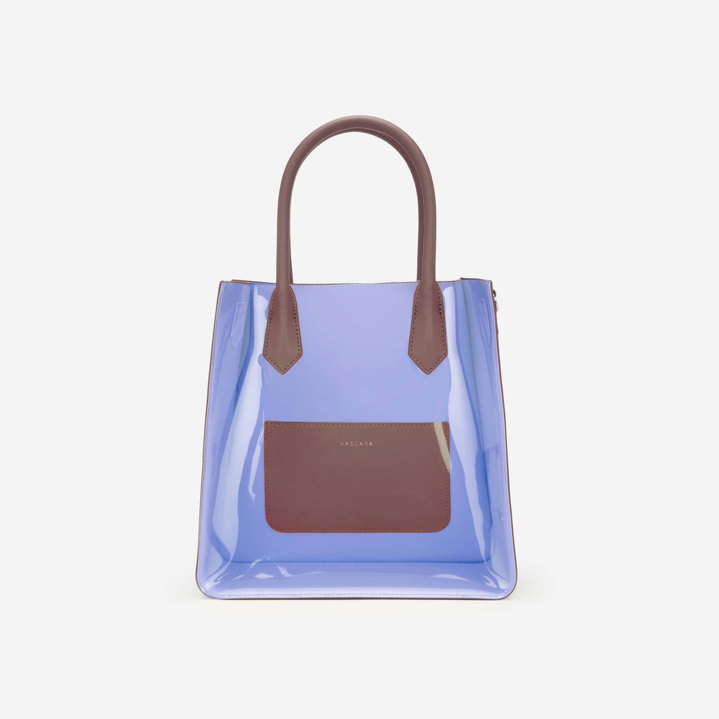 túi xách trong suốt màu tím vascara