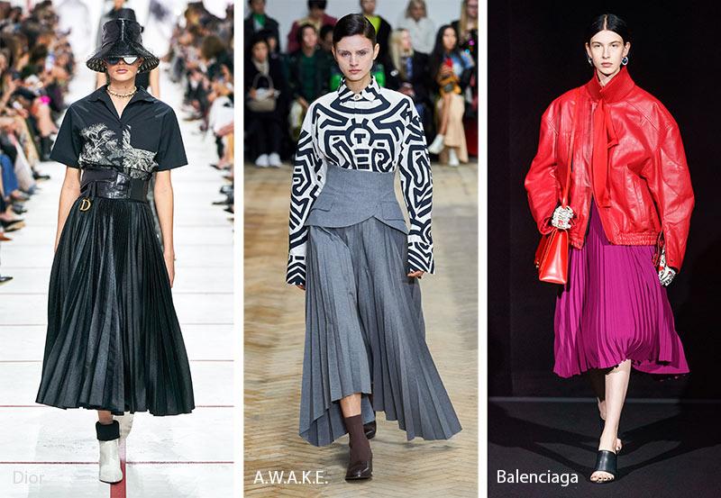 xu hướng thời trang công sở Thu - Đông 2019 - váy xếp ly