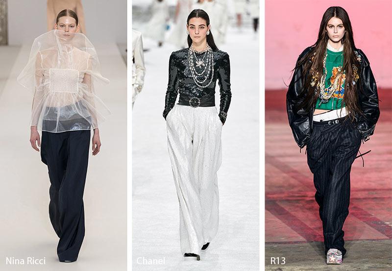xu hướng thời trang công sở Thu - Đông 2019 - quần ống rộng