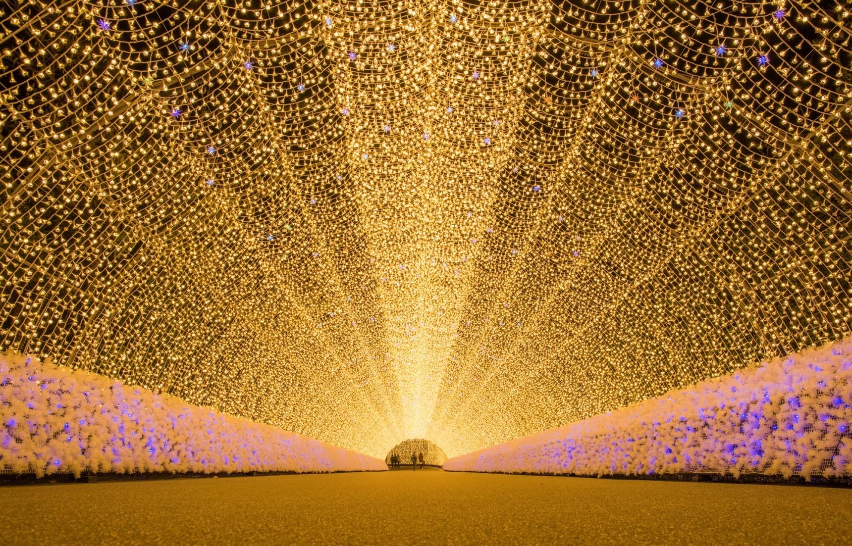 lễ hội ánh sáng màu vàng