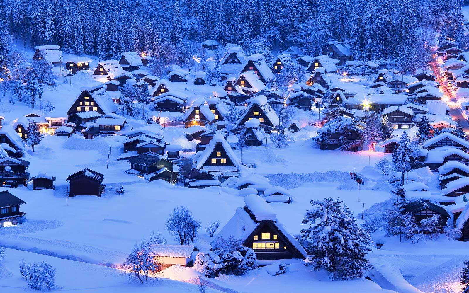 mùa đông làng cổ rực rỡ