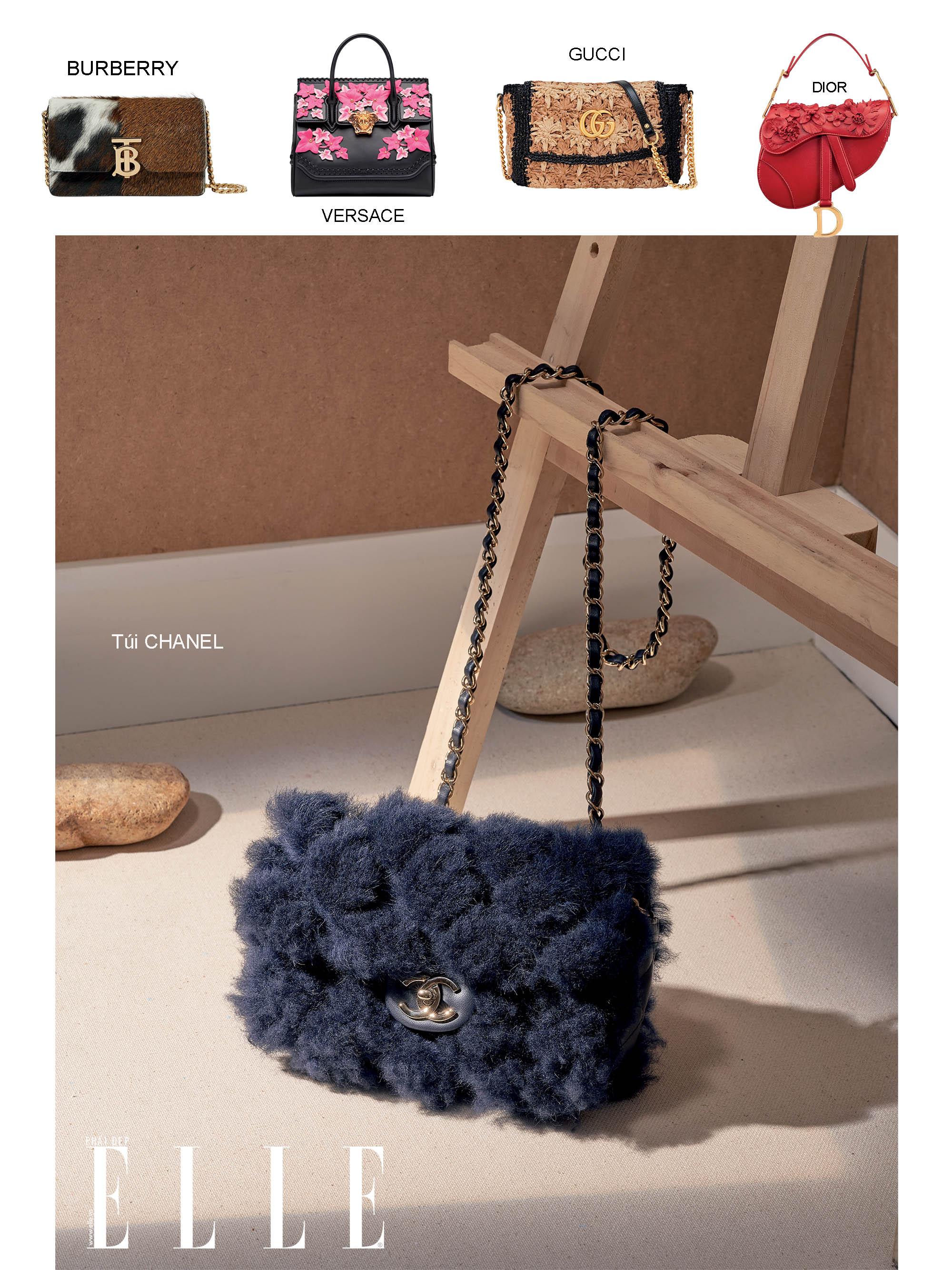 túi xách chất liệu lông cho mùa thu đông