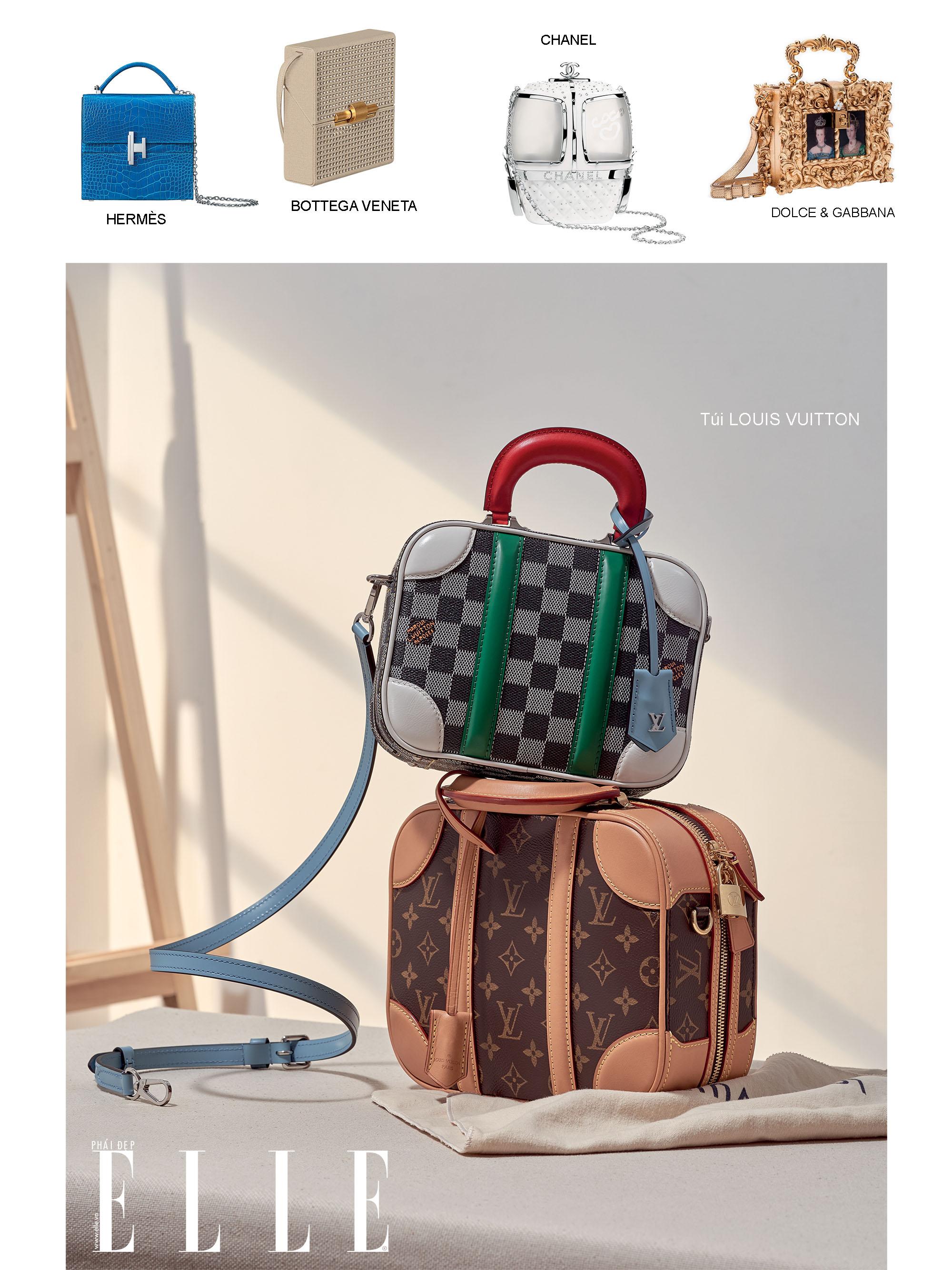 túi xách thiết kế dạng hộp cơ bản