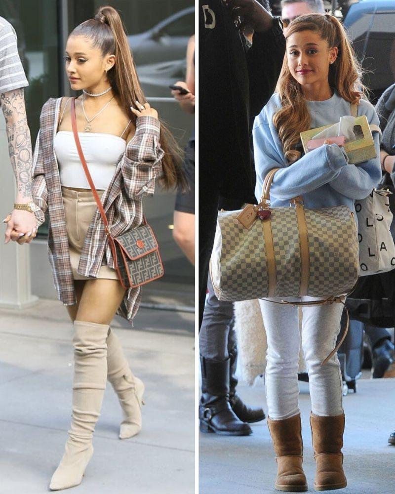Ariana Grande - cách phối đồ dáng người thấp bé