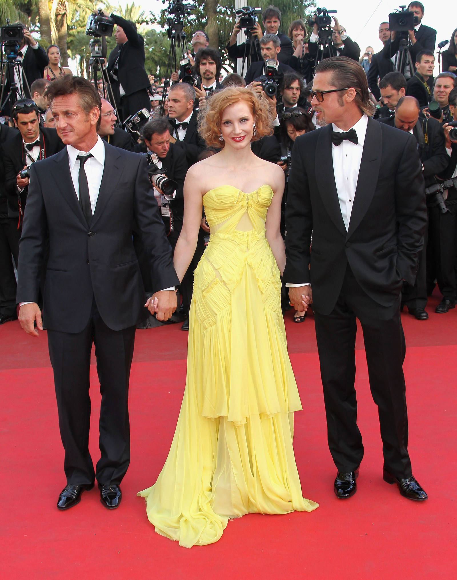 Jessica Chastain tại 2011 Cannes Film Festival - getty images