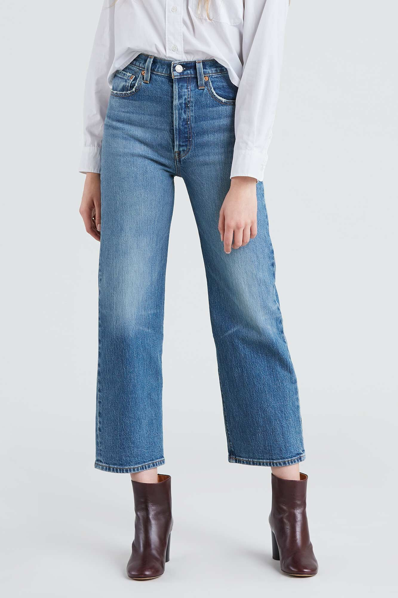 quần jeans ống rộng levi's