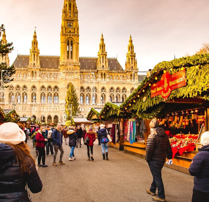 chợ giáng sinh ở vienne