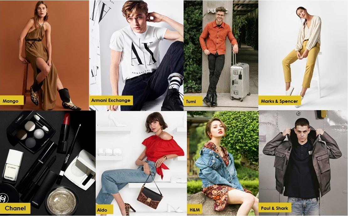 các thương hiệu nổi tiếng tại crescent mall