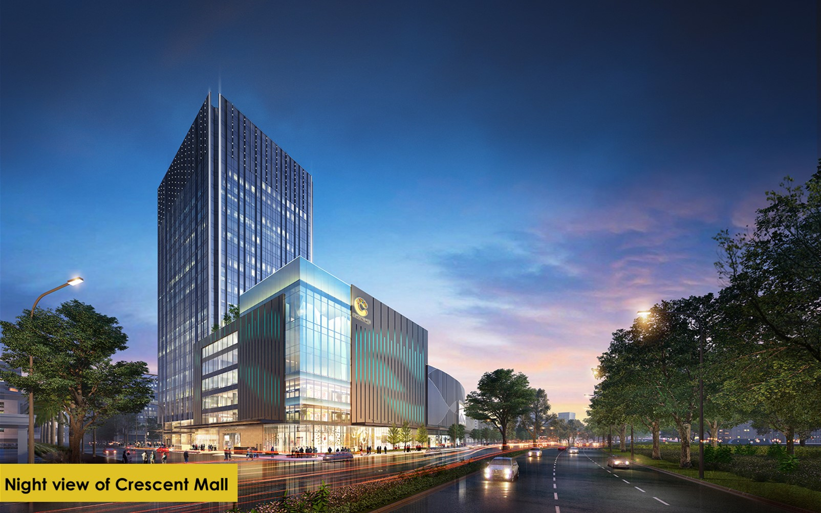 trung tâm thương mại crescent mall tòa nhà cao