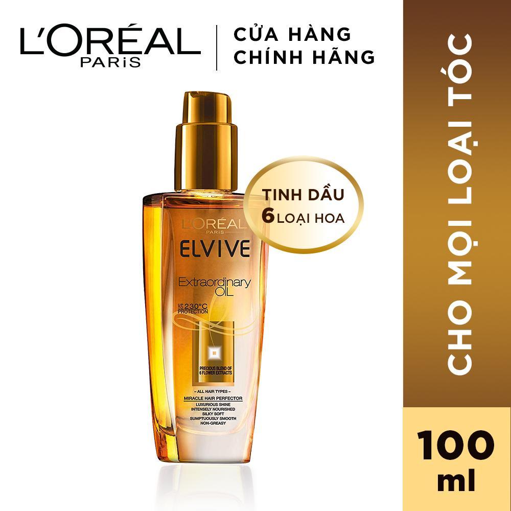 hair oil loreal paris tinh dầu dưỡng từ 6 loại hoa