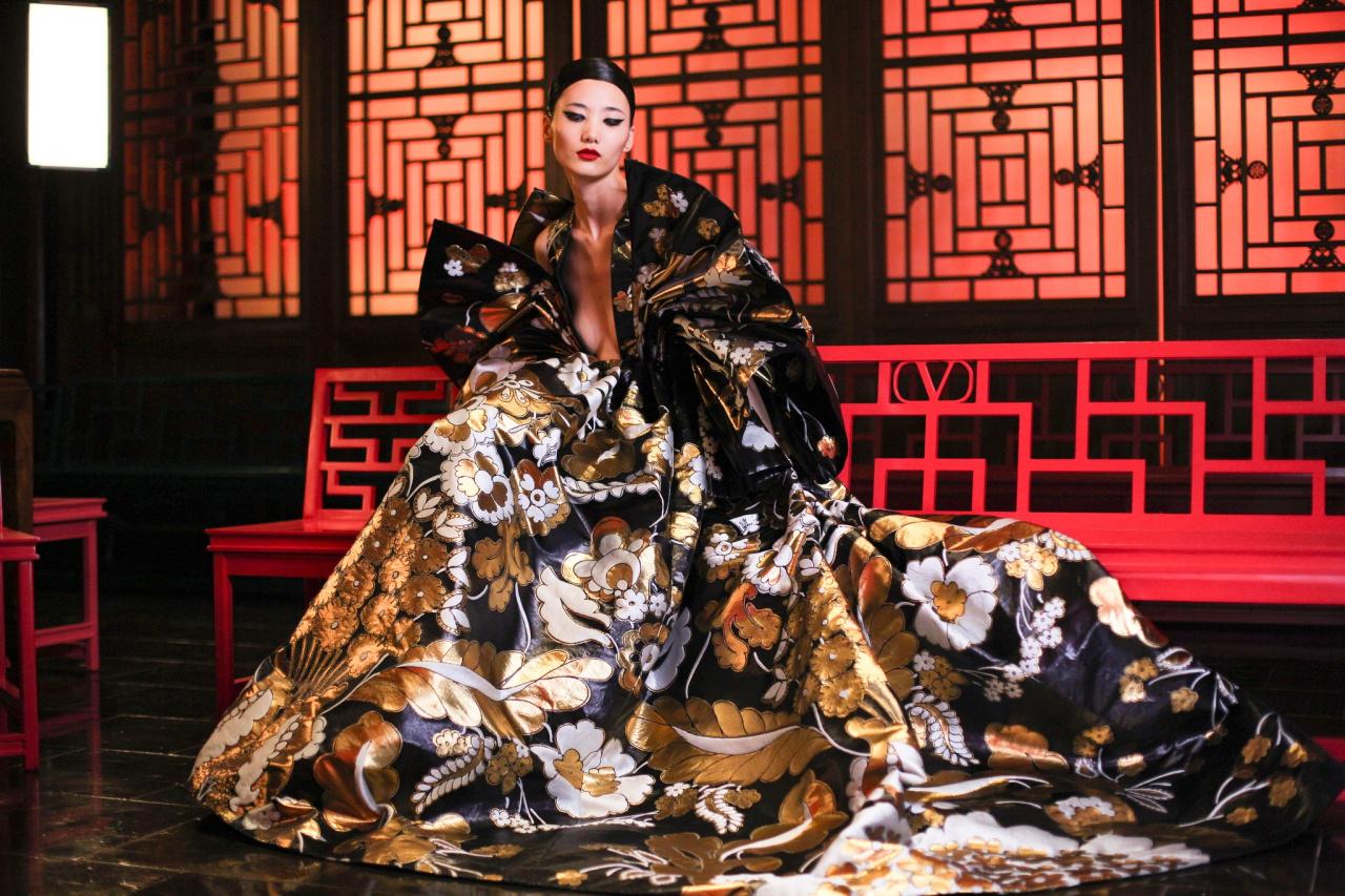 Valentino buổi trình diễn ở Trung Quốc