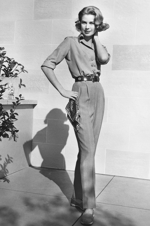 Grace Kelly quần tây áo sơ mi