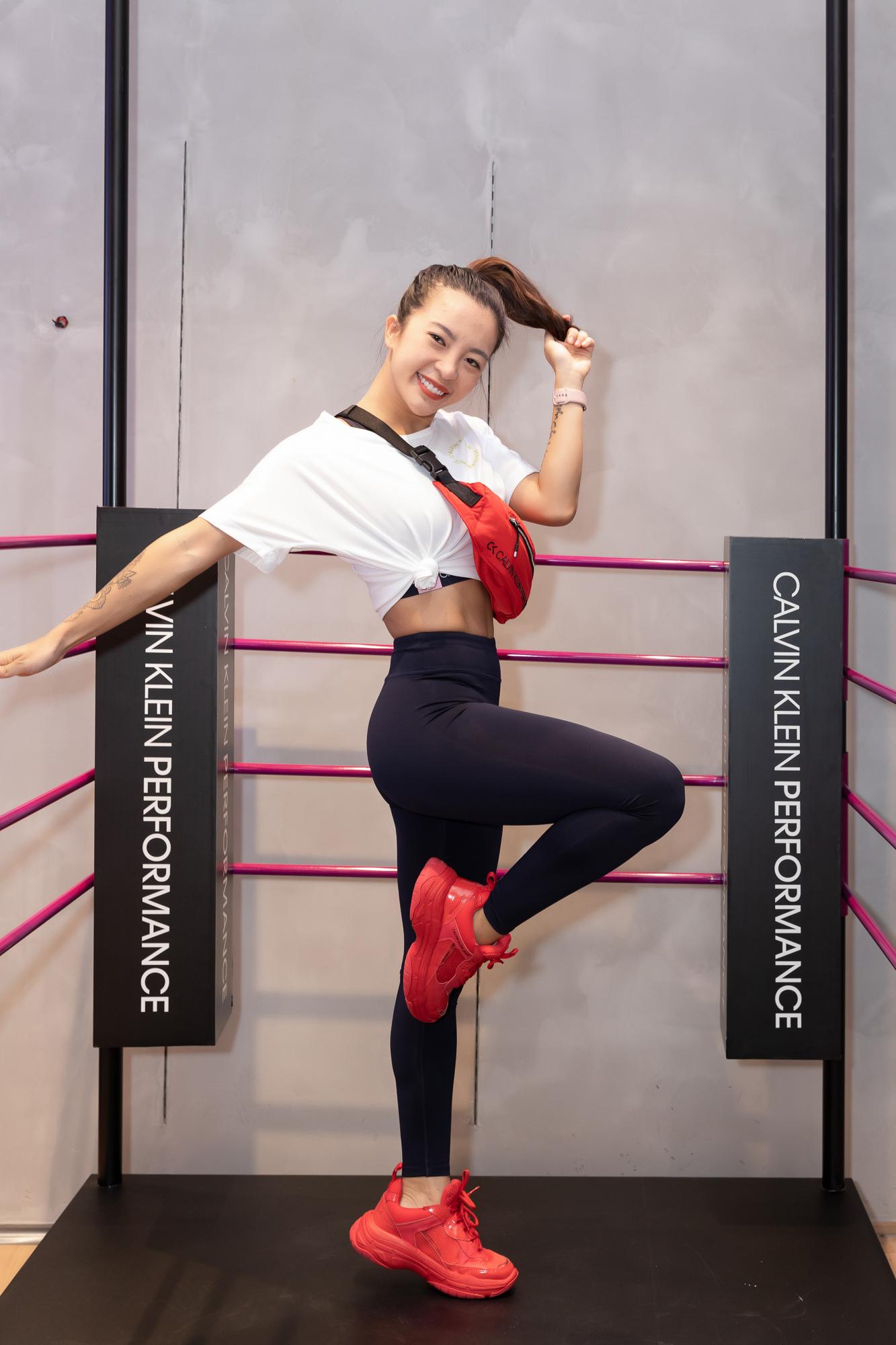 HLV Fitness Hana Giang Anh tại sự kiện khai trương Calvin Klein