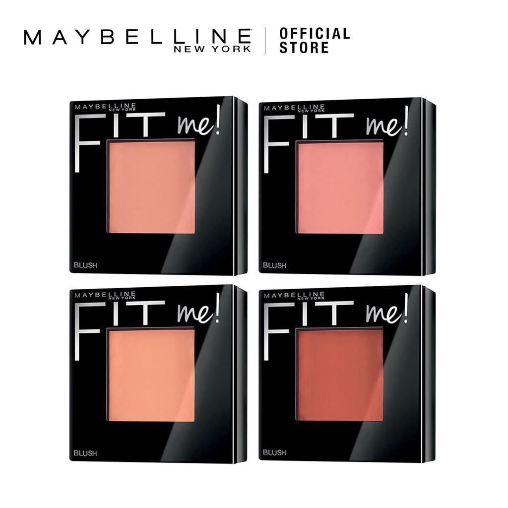 trang điểm nhanh với phấn má hồng Maybelline Fit Me Blush.