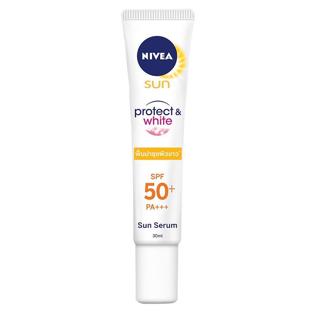 dưỡng trắng da nivea sun protect white sun serum spf 50
