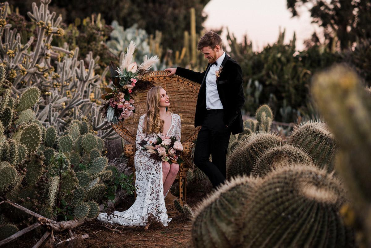 cặp đôi chụp ảnh cưới ở khu vườn xương rồng