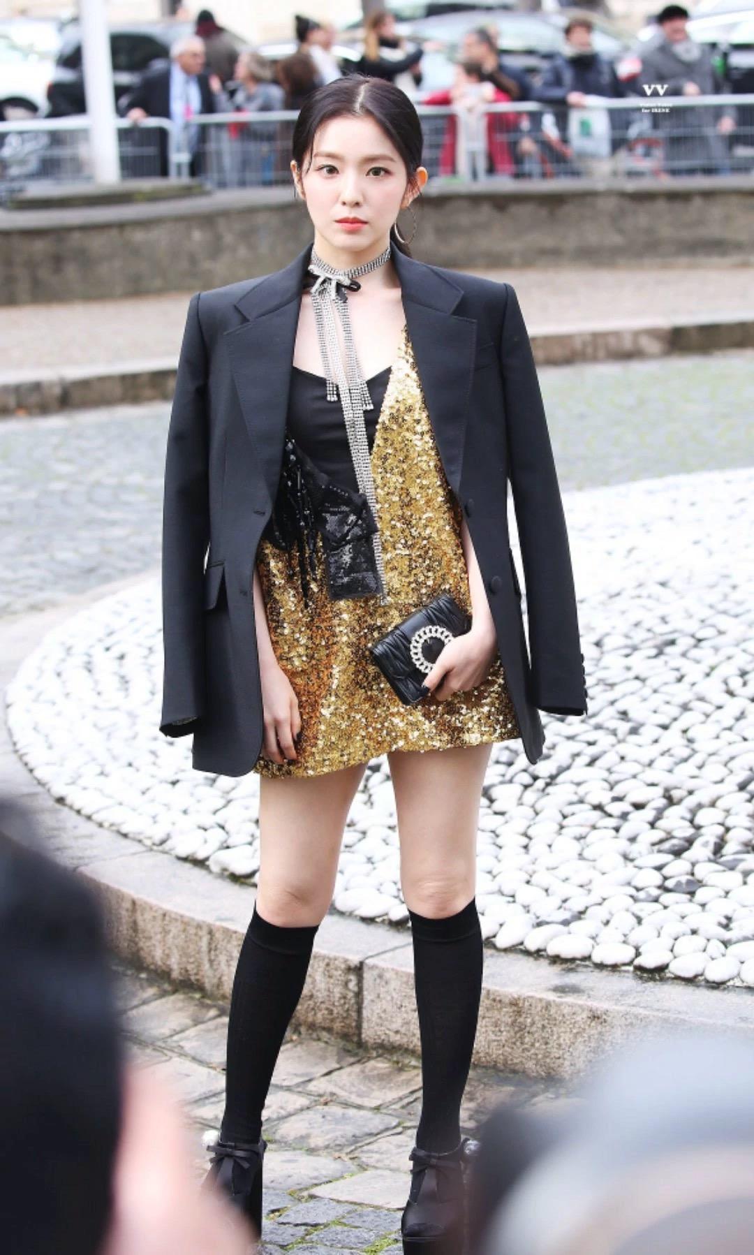 irene red velvet dự tuần lễ thời trang paris