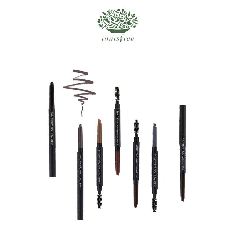 sản phẩm kẻ chân mày Innisfree Auto Eyebrow Pencil có 7 màu