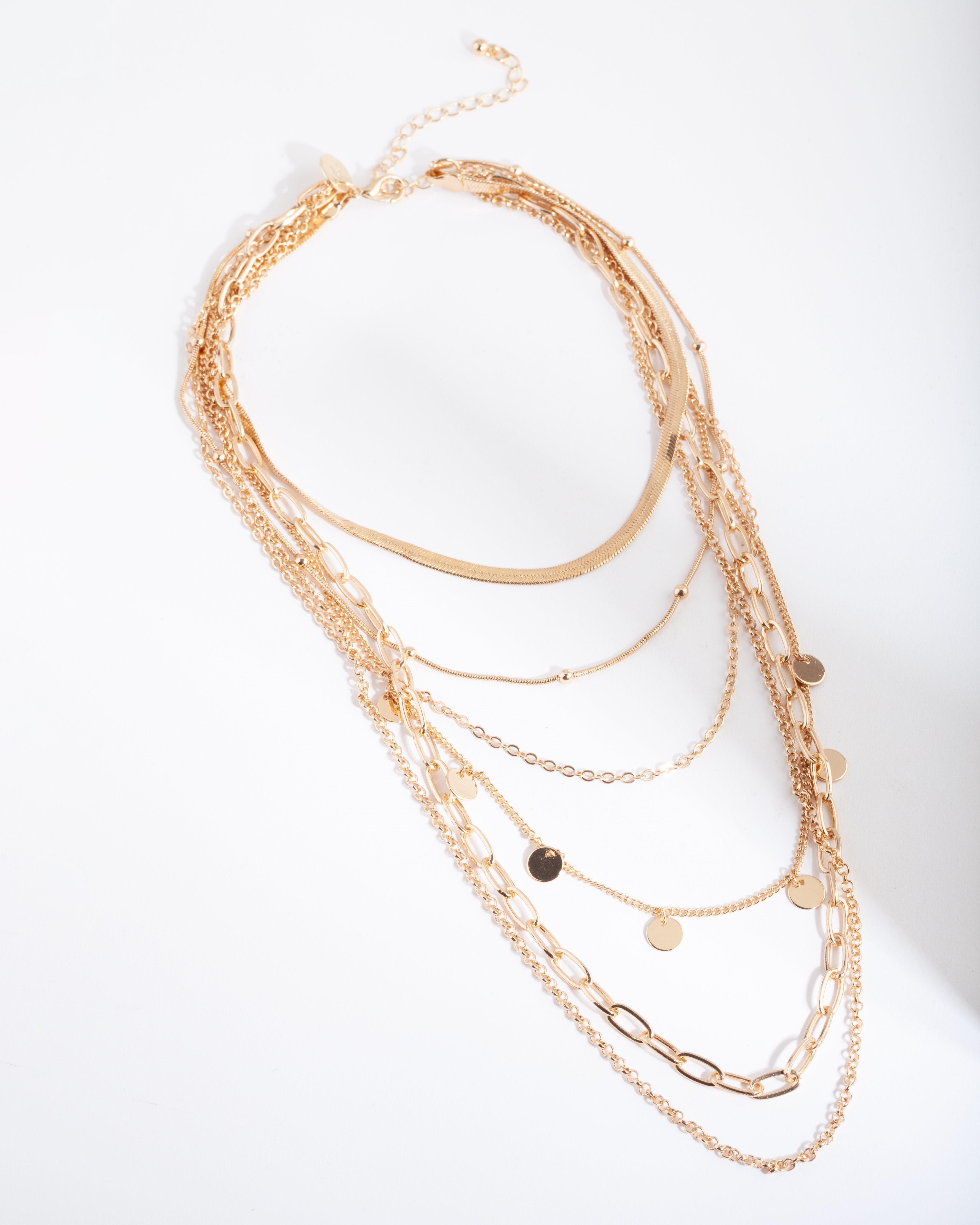 Phụ kiện thời trang dây chuyền nhiều sợi