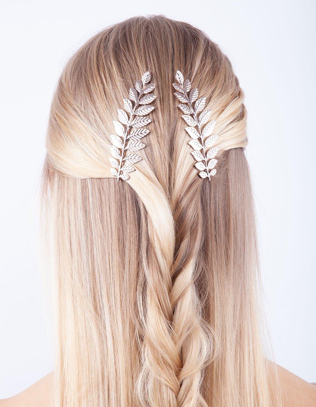 Phụ kiện thời trang kẹp tóc chiếc lá