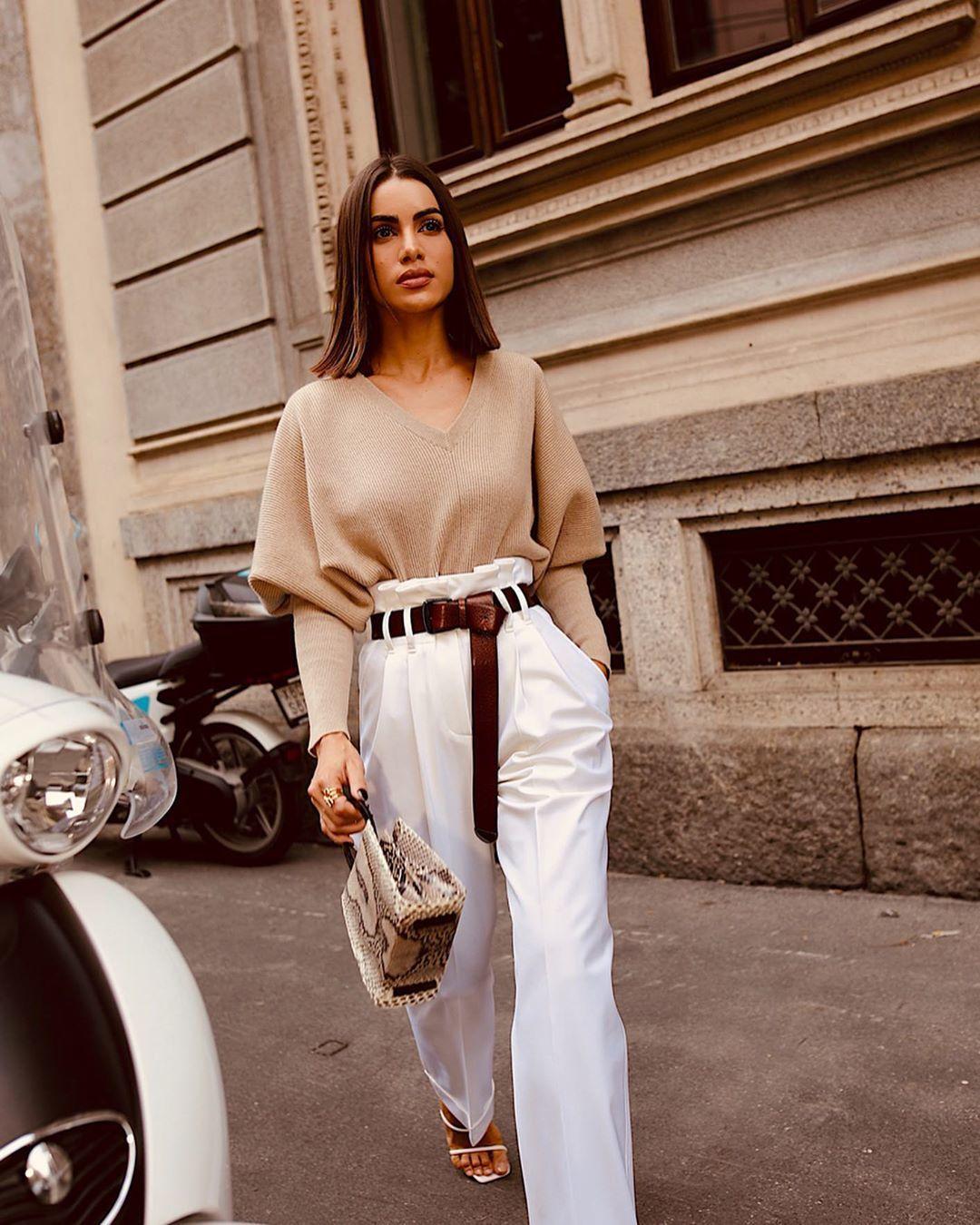 Thắt lưng thời trang màu nâu cho thời trang công sở