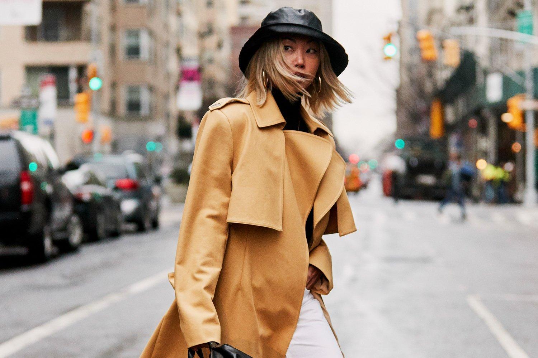 Mũ mùa Đông bucket áo khoác vàng