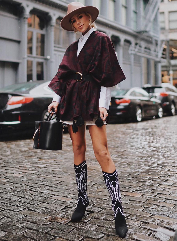 Mũ mùa Đông cao bồi phối cùng boots