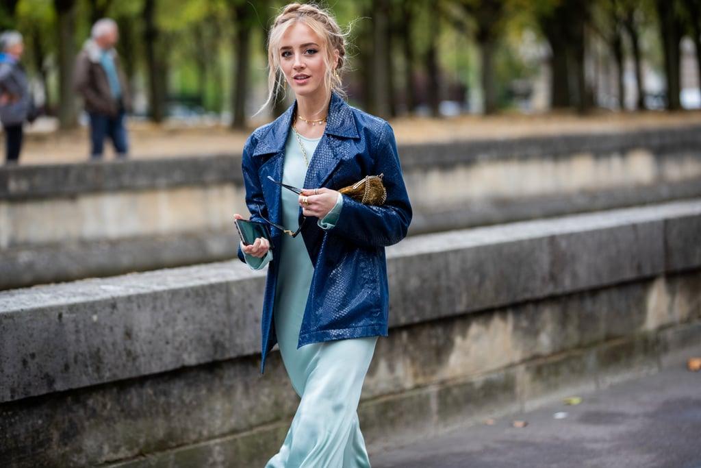 Áo khoác classic blue dáng ngắn