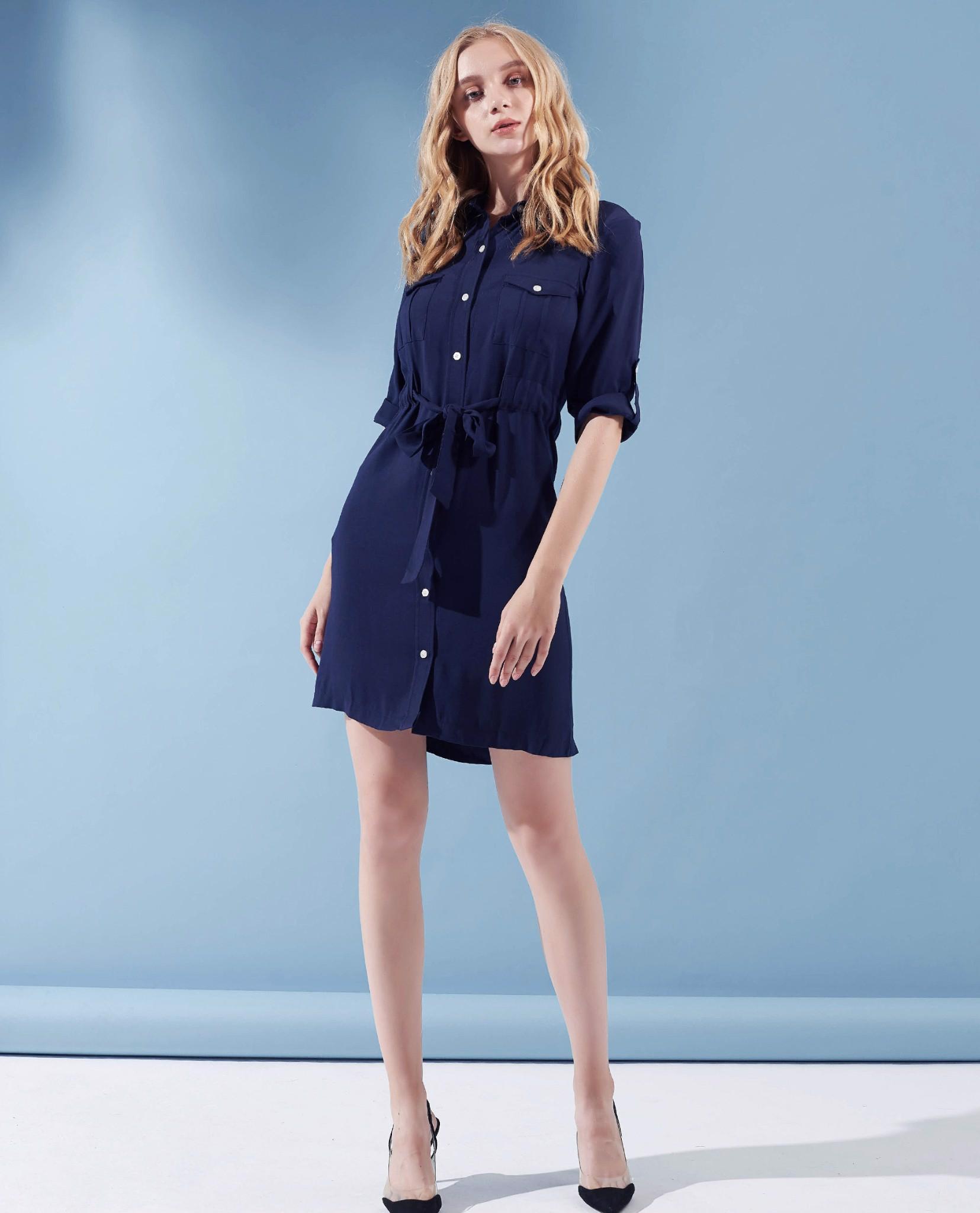 Đầm classic blue cocosin