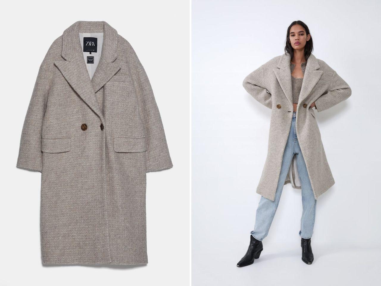 áo khoác len pha zara - áo khoác thu đông