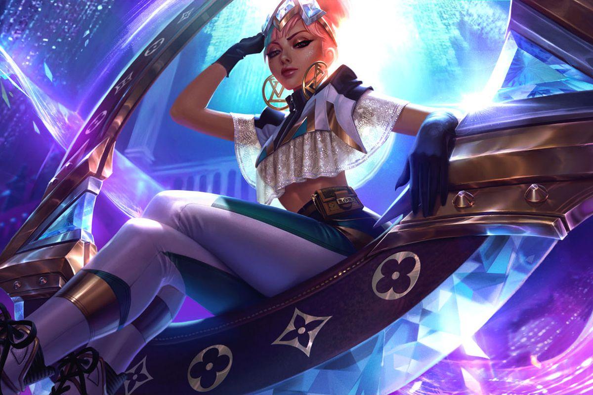 trang phục louis vuitton thiết kế cho nhân vật trong game league of legends