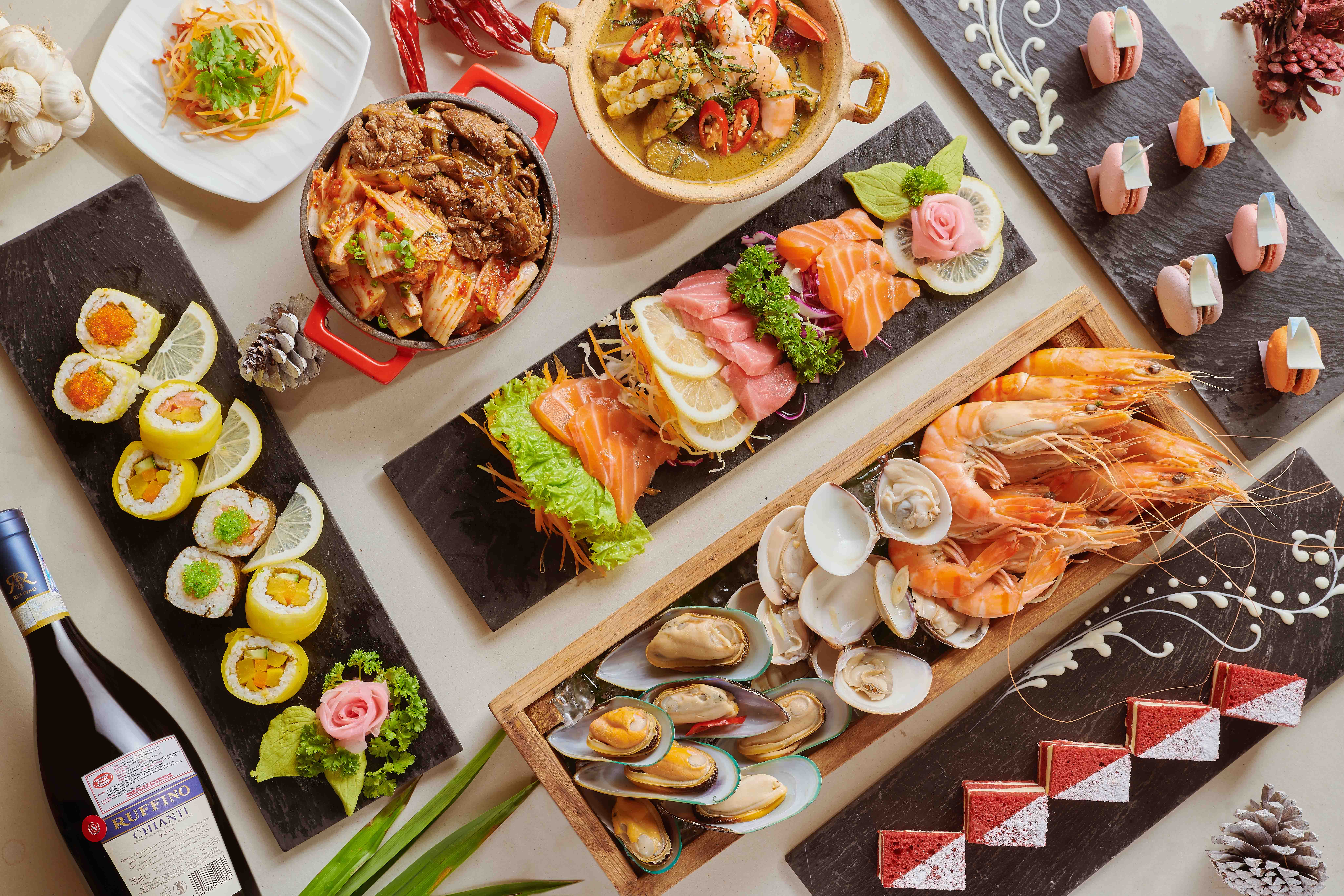 sheraton grand đà nẵng international gala buffet
