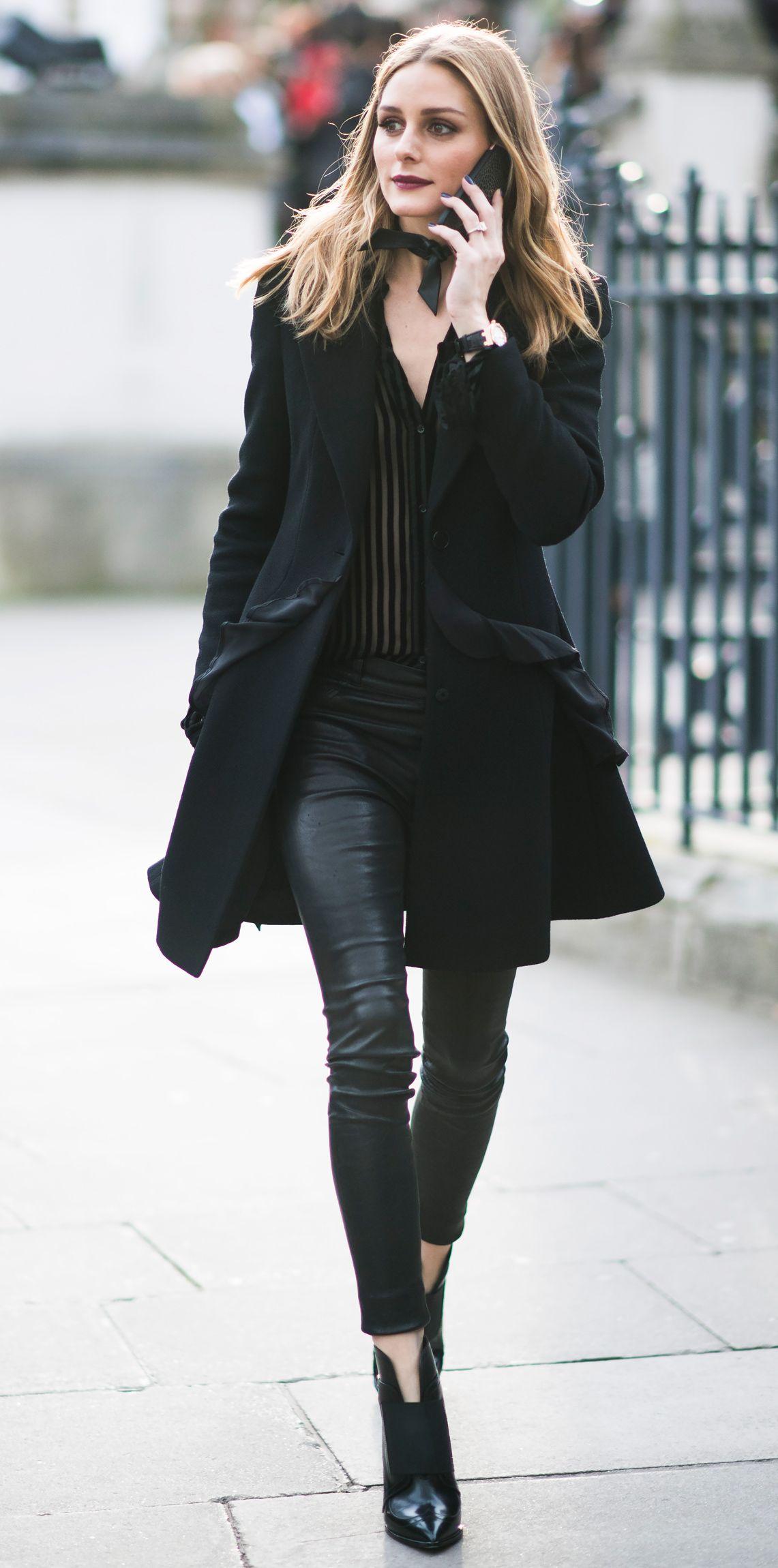 Olivia Palermo diện trang phục đen