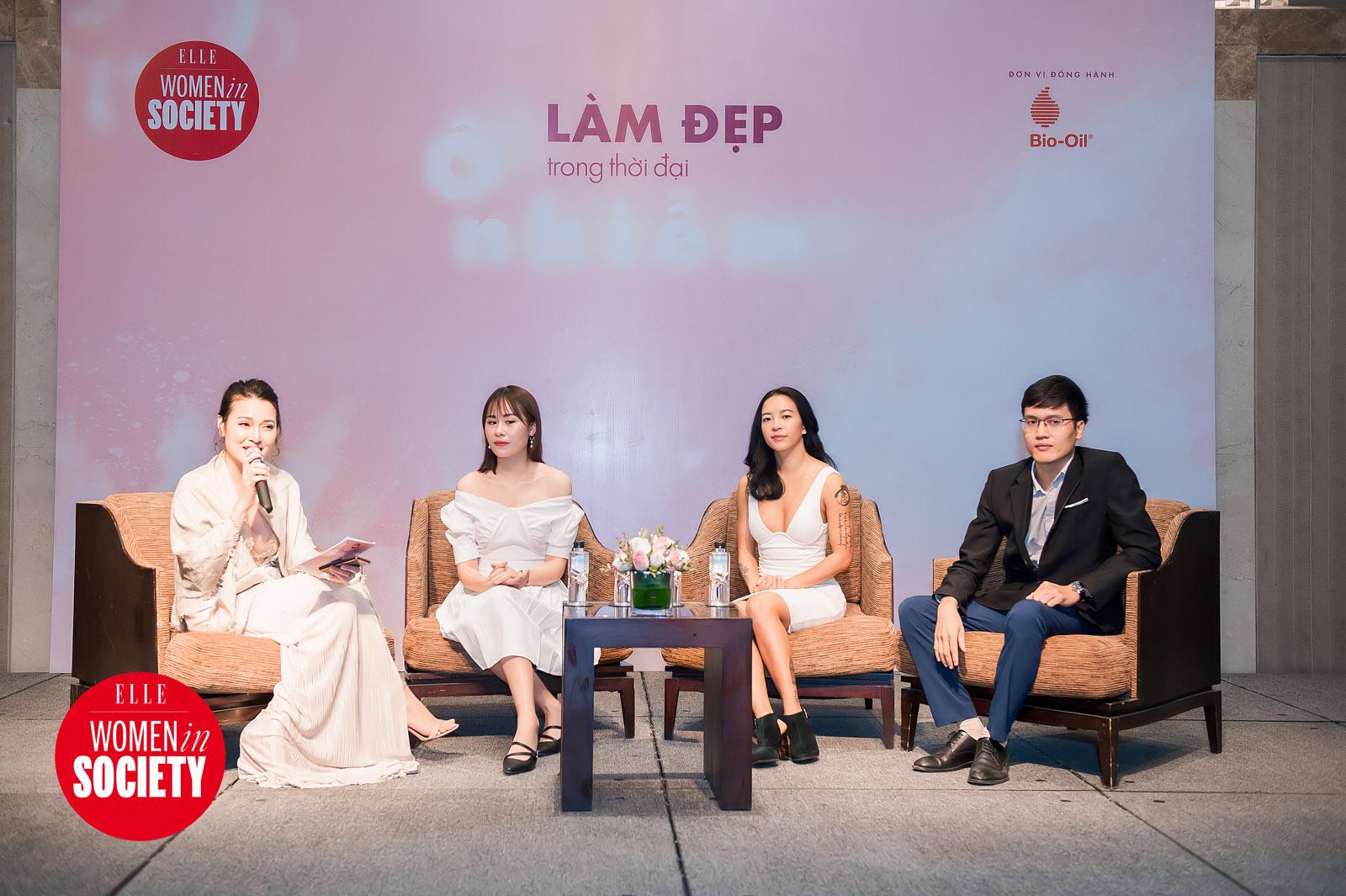 khách mời chia sẻ trong sự kiện elle women in society