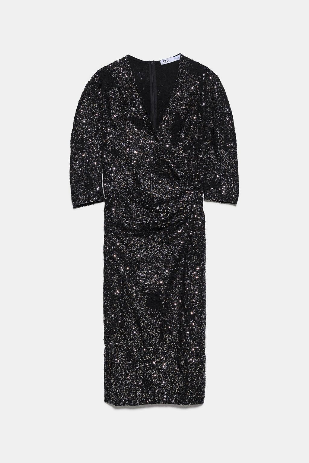đầm kim sa xếp ly zara - quà tặng giáng sinh 2019