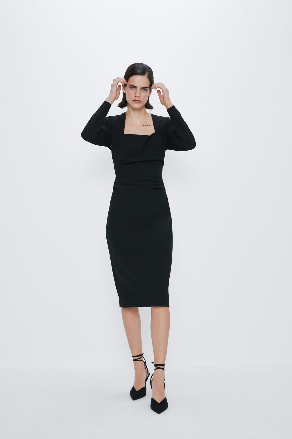 Đầm đen dự tiệc dáng ôm Zara