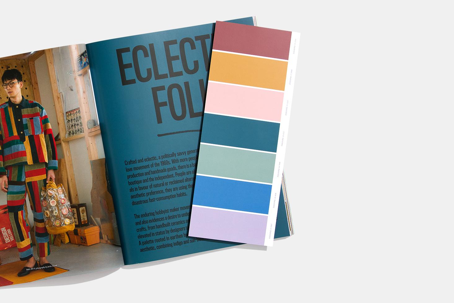Ấn phẩm View point được phát hành bởi Pantone dự đoán xu hướng màu sắc. - màu pantone