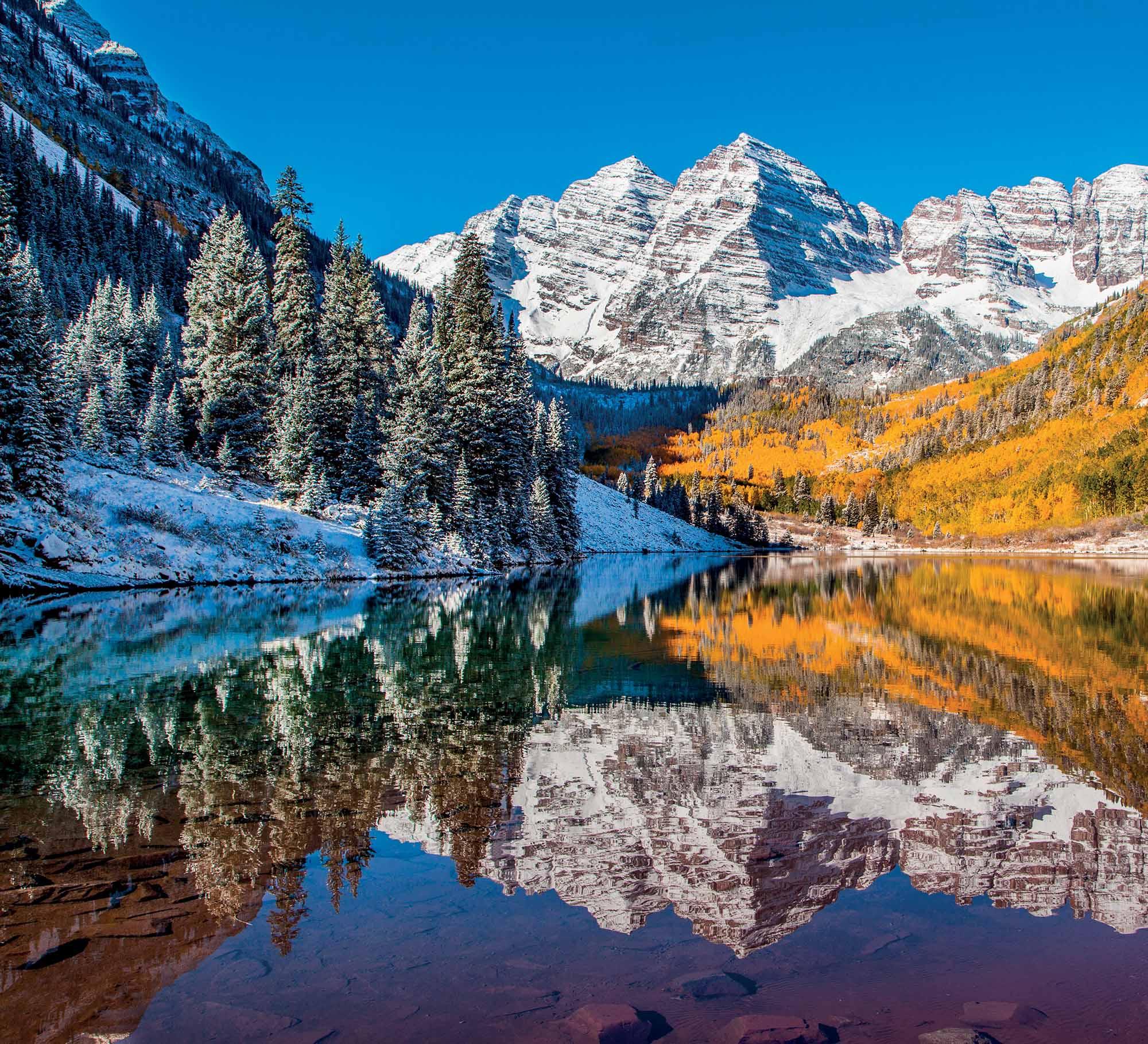 Aspen khung cảnh Maroon Bells