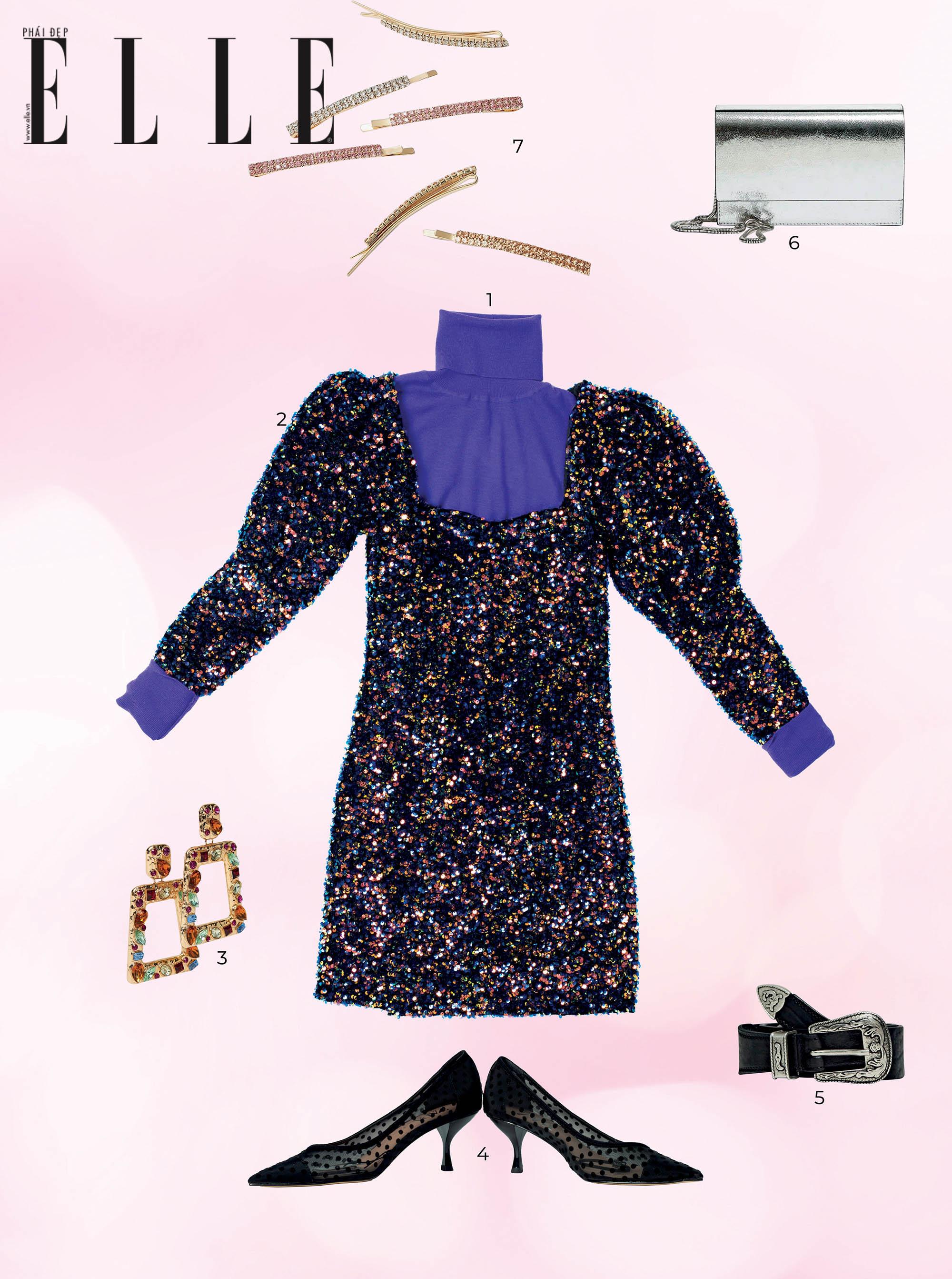mùa lễ hội trang phục ánh kim