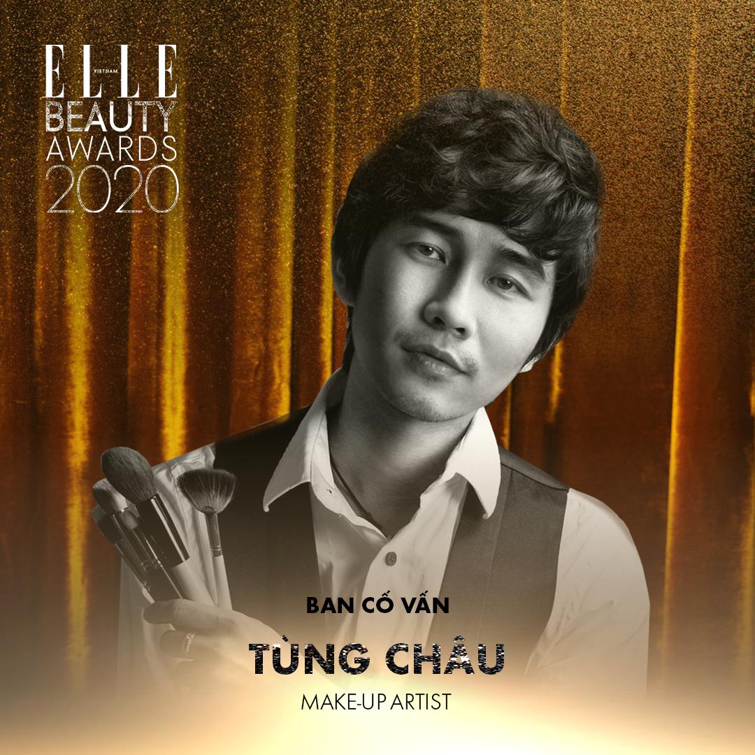 makeup artist Tùng Châu - ban cố vấn elle beauty awards 2020