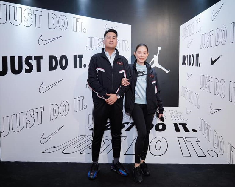 Phillip Nguyễn và Linh Rin tại sự kiện Nike