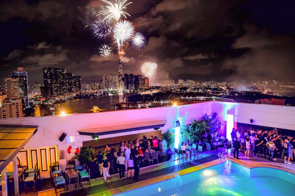 Liquid Sky bar- Firework spectacular