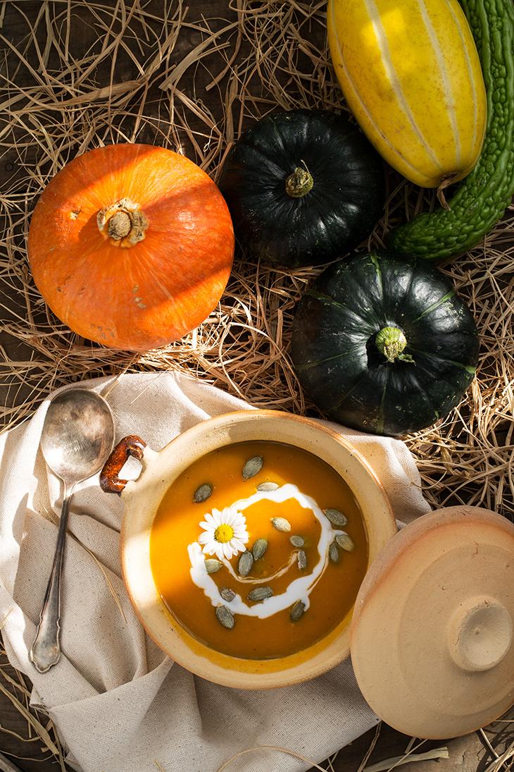 gia vị tăng cường trao đổi chất súp bí đỏ