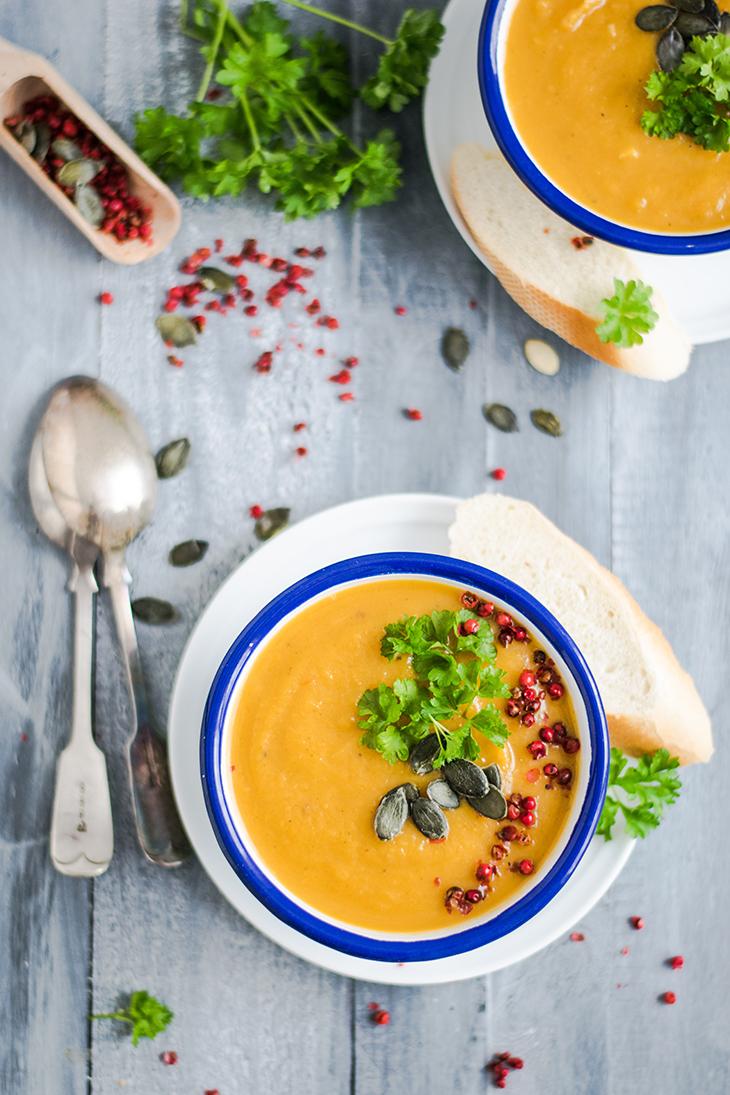 recipe tăng cường trao đổi chất súp cà rốt hạt lựu