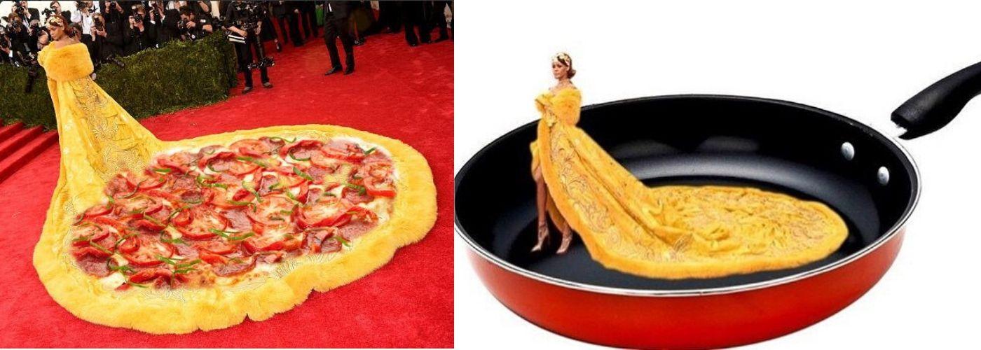 Meme thời trang thảm đỏ Rihanna