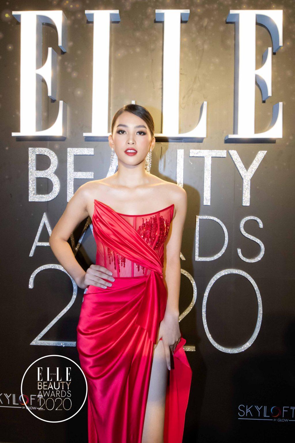 phong cách làm tóc và trang điểm ELLE Beauty Awards 2020