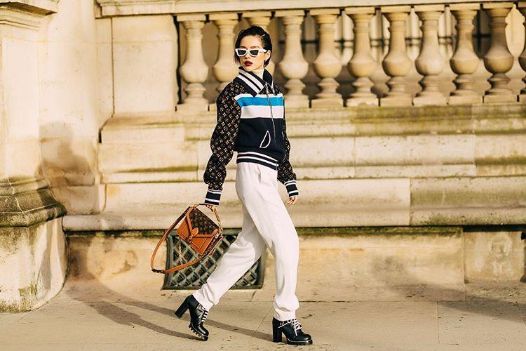 Fashionista Việt Khánh Linh show Louis Vuitton tháng 3