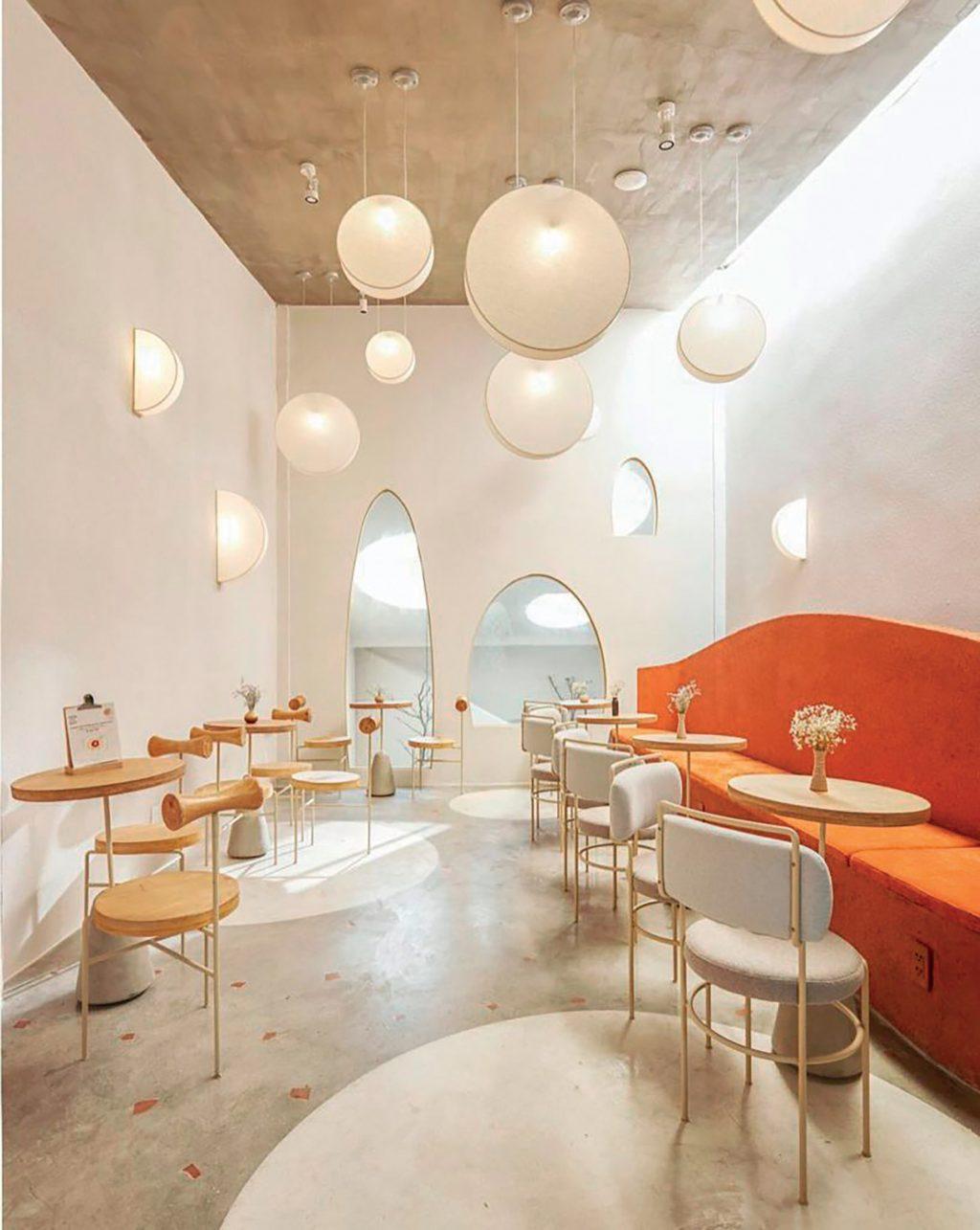 địa điểm không gian quán cafe